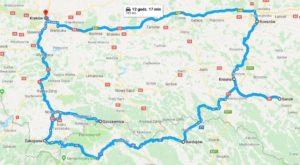 Galicia tour map