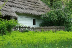Polish old wooden house